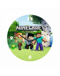 Personalized Minecraft Clock - Round