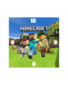 Personalized Minecraft Clock - Square