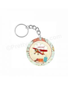 Personalized Travel Keychain