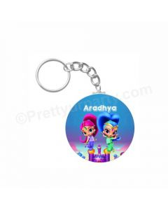 Personalized Shimmer and Shine Keychain
