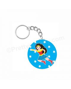 Personalized Wonder Woman Keychain