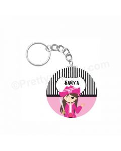 Personalised Girly Pirate Keychain