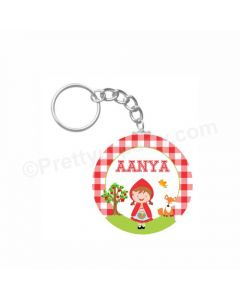 Personalized Little Red Riding Hood Keychain