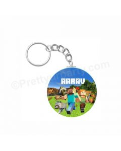 Personalized Minecraft Keychain