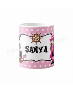 Personalised Girly Pirate Mug