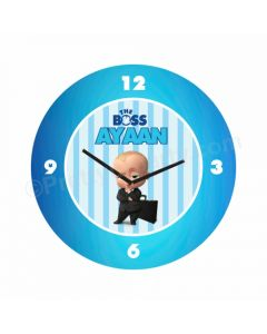 Personalized Boss Baby Theme Clock - Round