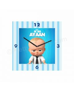 Personalised Boss Baby Clock - Square