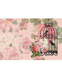 Pink Floral with bird cage Placemats