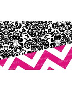 Pink Chevron and black damask Placemats