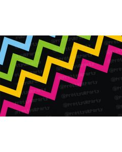 Black with neon chevron Placemats