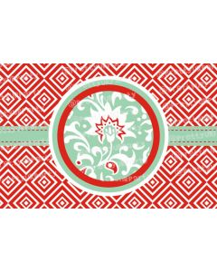 Tangerine and green Placemats