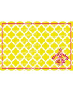 Yellow and Pink motif Placemats