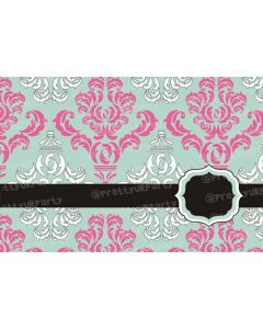 Grey and Pink damask Placemats