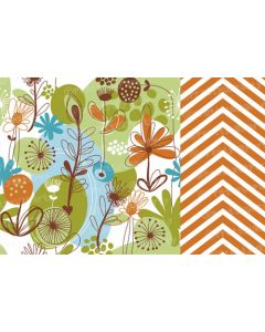 Orange and green floral Placemats