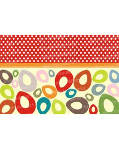 Red dots and Multicolor leaves Placemats