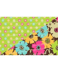 Green and brown floral Placemats
