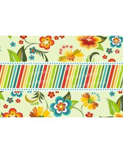 Multicolour stripes and flowers Placemats