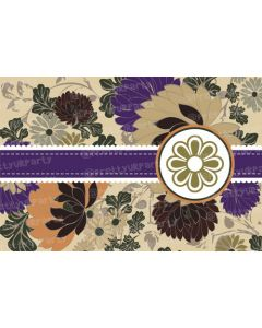 Purple and brown flowers Placemats