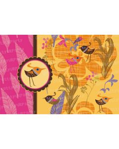 Orange and pink bird Placemats