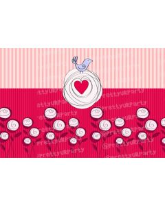 Pink and white stripes / flowers Placemats