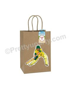 Cricket Theme Gift Bags - Pack of 10
