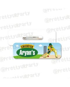Cricket Theme Badge / Name Tag