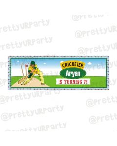 Personalized Cricket Birthday Banner 36in