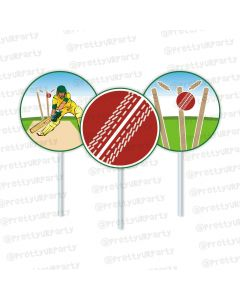 cricket theme cupcake / food toppers