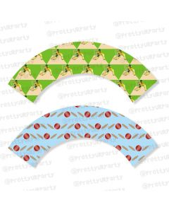 cricket theme cupcake wrappers
