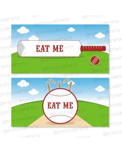 cricket theme / buffet table cards