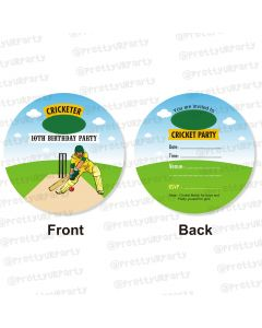 cricket theme invitations