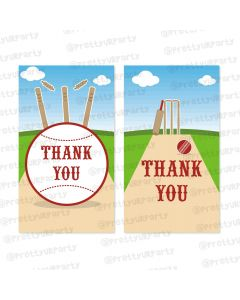 cricket theme thankyou cards