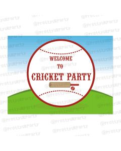 cricket theme entrance banner / door sign