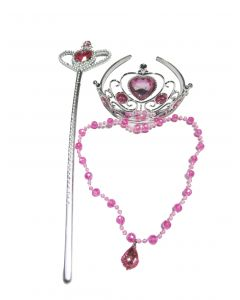 Crown And Wand With Pink Necklace