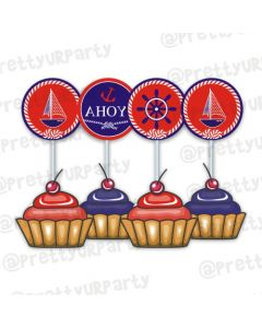 Nautical cupcake / food toppers