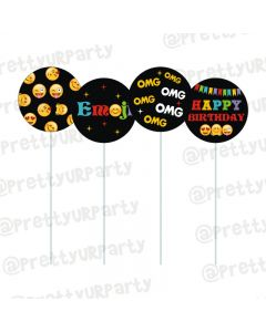 Emoji Theme Cupcake / Food Toppers