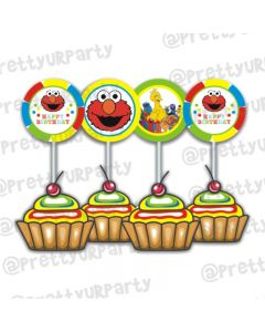 Elmo Theme Cupcake / Food Toppers