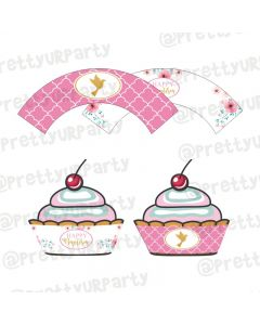 Baptism Theme Cupcake Wrappers