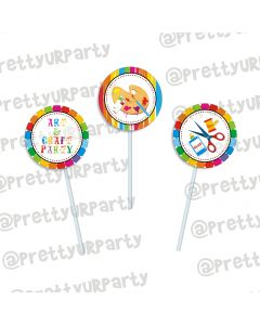 Art & Craft Party Cupcake / Food Toppers