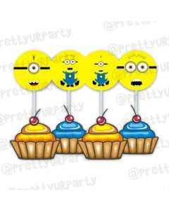 Despicable Me Minions food toppers
