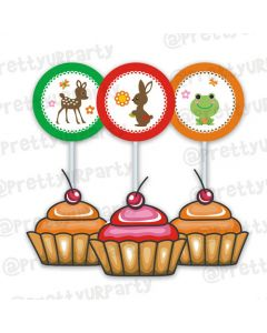 Woodland/Forest Cupcake / Food toppers