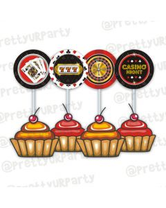 Casino Night Cupcake / Food Toppers