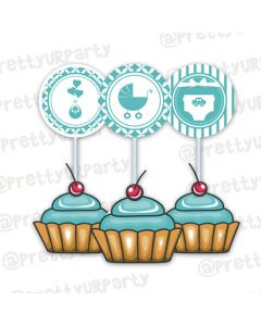 Tiffany cupcake / food toppers