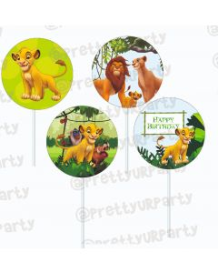 Lion King Theme Cupcake / Food Toppers