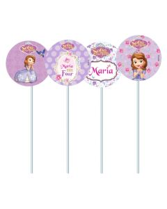 Sofia the first Enchanted Garden Party Cupcake Toppers