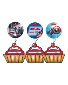 Captain America Cupcake / Food Toppers