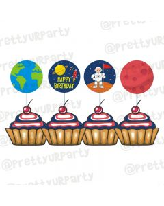 Space  Theme Cupcake / Food Toppers