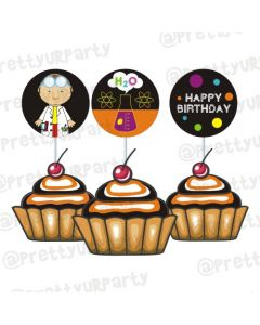 Mad Scientist Cupcake / Food Toppers