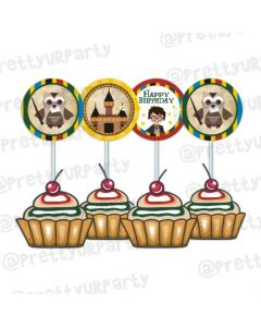 Harry Potter Cupcake Food Toppers