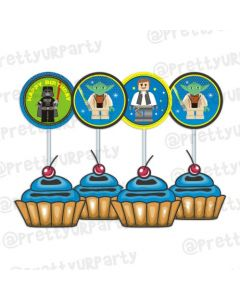 Star Wars Inspired Cupcake Food Toppers